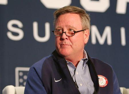 Sep 25, 2017; Park City, UT, USA; USOC chief executive officer Scott Blackmun during the 2018 U.S. Olympic Team media summit at the Grand Summit Hotel. Mandatory Credit: Jerry Lai-USA TODAY Sports