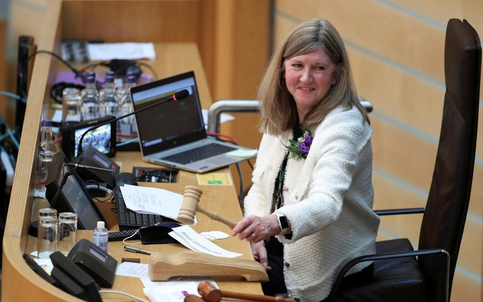 Newly elected Presiding Officer of the Scottish Parliament Alison Johnstone - Getty Images Europe