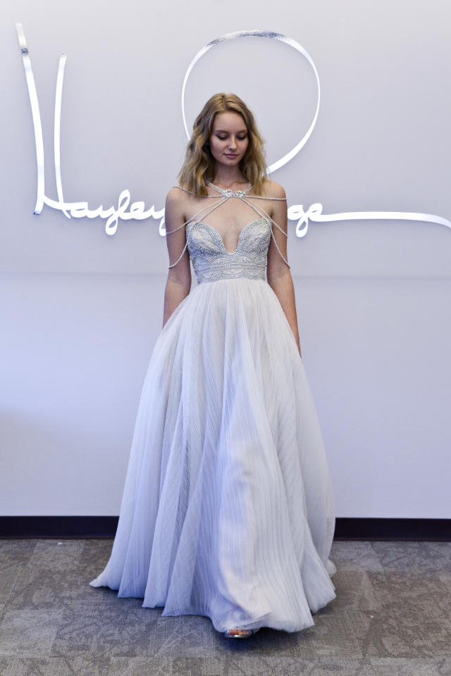 """<div class=""""caption-credit"""">Photo by: The Knot</div><div class=""""caption-title""""></div><b>1. This Jeweled Corset</b> This Hayley Paige Spring 2015 gown guarantees one blinged-out bride from the neck to… all the way down. <br> <b>More from The Knot:</b> <a rel=""""nofollow"""" href=""""http://www.theknot.com/weddings/album/a-cozy-cottage-wedding-in-denver-colorado-159172?cm_mmc=TKInline-_-Yahooshine-_-Most%20Edgy%20Wedding%20Dresses%20From%20Bridal%20Fashion%20Week!-_-a%20cozy%20cottage%20wedding%20in%20denver%20co"""" target="""""""">A Cozy Cottage Wedding In Denver, CO</a>"""