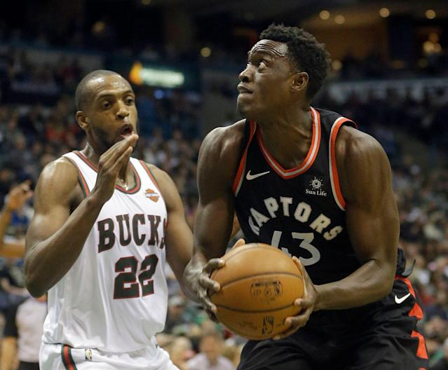 Khris Middleton and Pascal Siakam are a pair of unlikely but underrated co-stars. (AP)