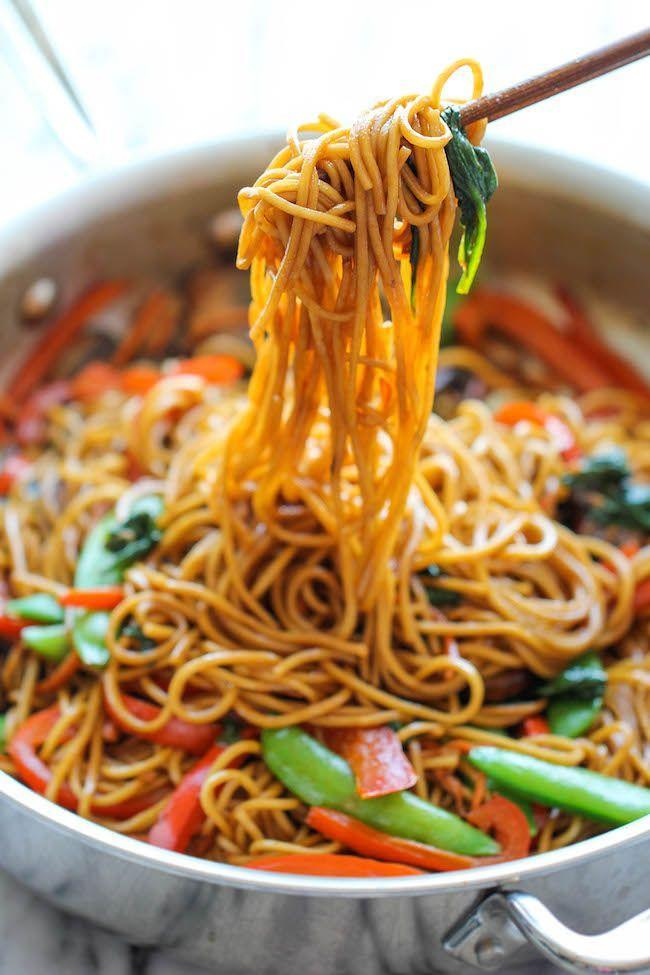 """<p>Happiness is a heaping pile of noodles.</p><p>Get the recipe from <a href=""""http://damndelicious.net/2014/10/03/easy-lo-mein/"""" rel=""""nofollow noopener"""" target=""""_blank"""" data-ylk=""""slk:Damn Delicious"""" class=""""link rapid-noclick-resp"""">Damn Delicious</a>.</p>"""