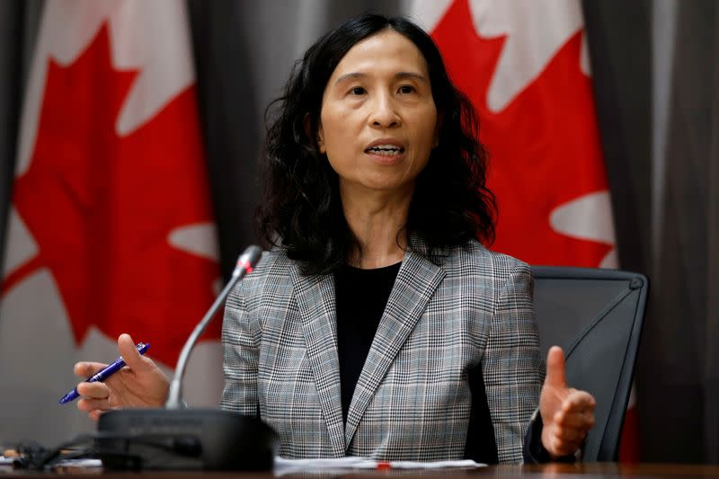 FILE PHOTO: Canada's Chief Public Health Officer Dr. Theresa Tam attends a news conference as efforts continue to help slow the spread of coronavirus disease (COVID-19) in Ottawa