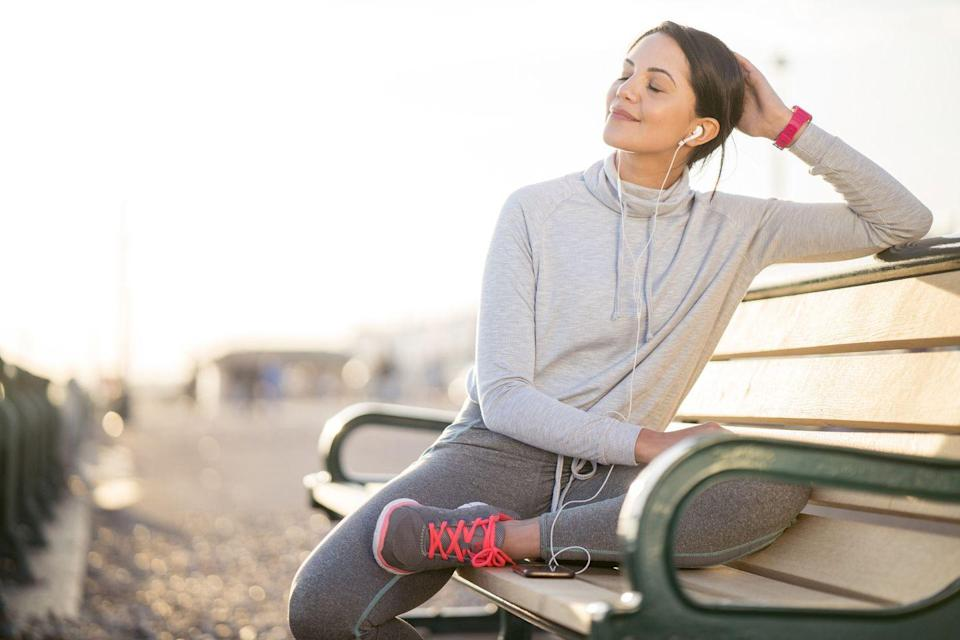 """<p>Whether you prefer music, podcasts, or audiobooks, listening can help you walk longer. """"Distractions help you forget about the stress your body is under, and research shows that music can improve exercise performance,"""" Zehetner says. </p>"""