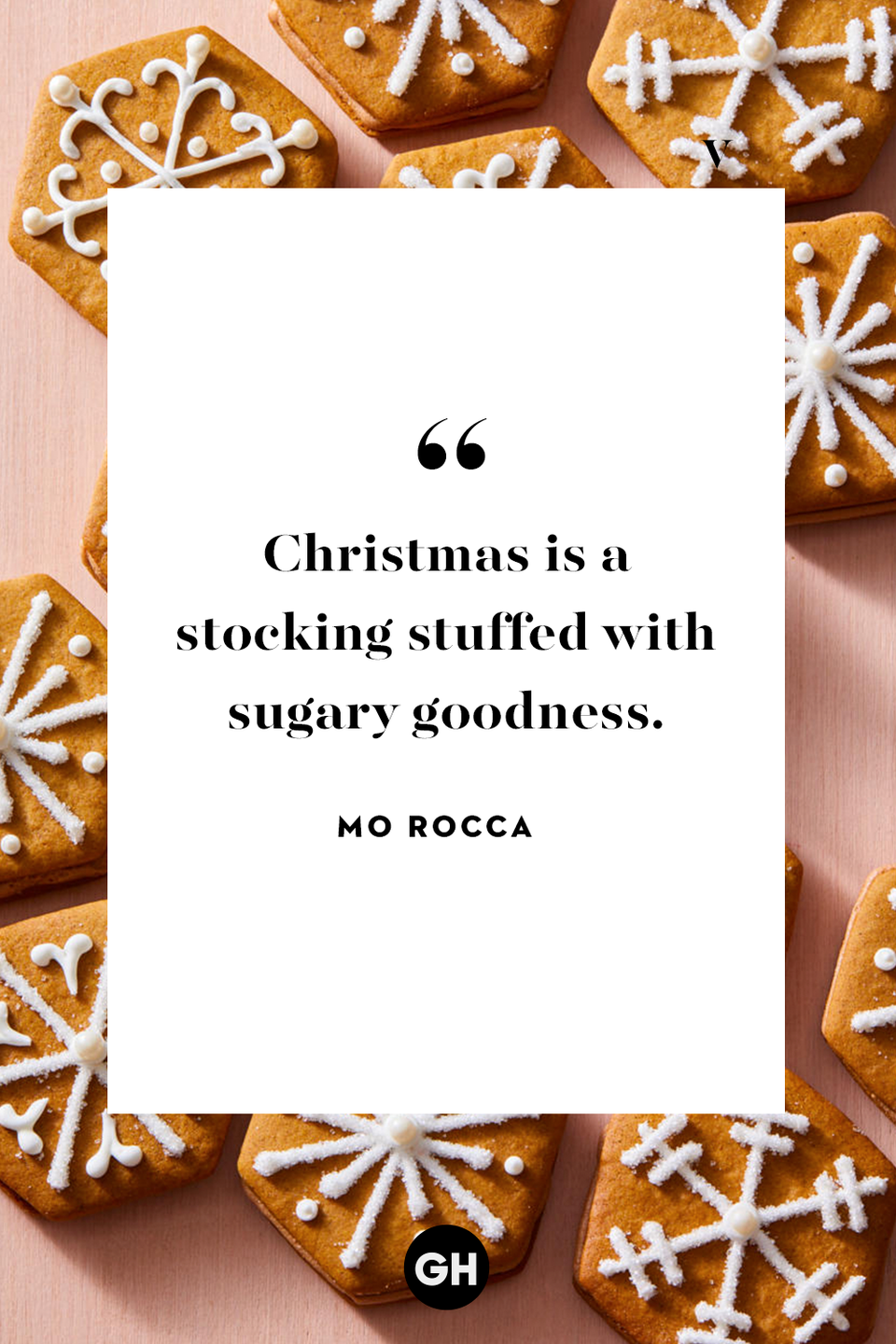 <p>Christmas is a stocking stuffed with sugary goodness. </p>