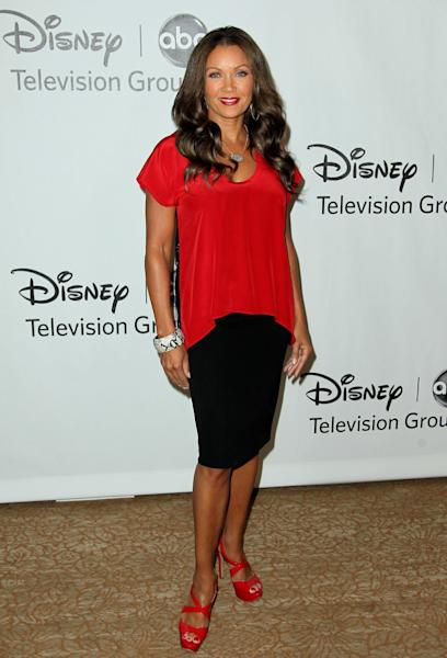 "FILE - In this July 27, 2012 file photo, actress Vanessa Williams arrives at the Disney ABC Television Group 2012 Summer Press Tour All-Star Cocktail Reception, in Beverly Hills, Calif. Williams, Cuba Gooding Jr. and Condola Rashad will be joining Cicely Tyson in the play, ""The Trip to Bountiful."" Opening night is set for April 23, 2013. (Photo by Matt Sayles/Invision/AP, File)"