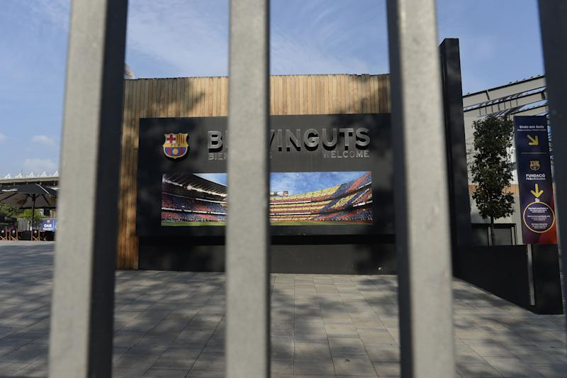 Barcelona Camp Nou stadium will remain shuttered until at least April 11. (Josep Lago/Getty)