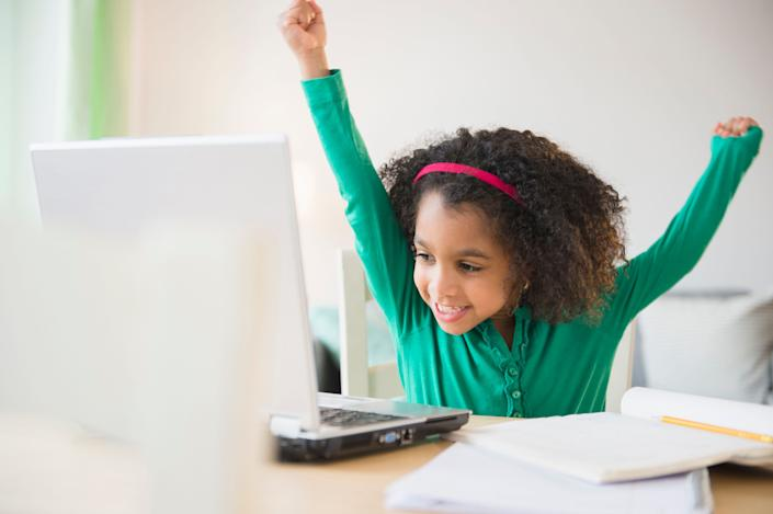 Millions of U.S. children will be doing some level of remote learning during the fall school session. Here's how to give them a space to optimize their experience. (Photo: JGI/Jamie Grill via Getty Images)