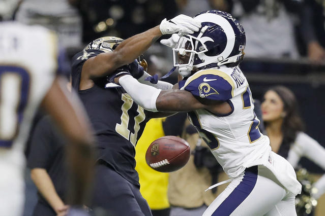 The NFL is facing at least one lawsuit about the blatant non-call of pass interference in Sunday's Saints-Rams game. (Getty Images)