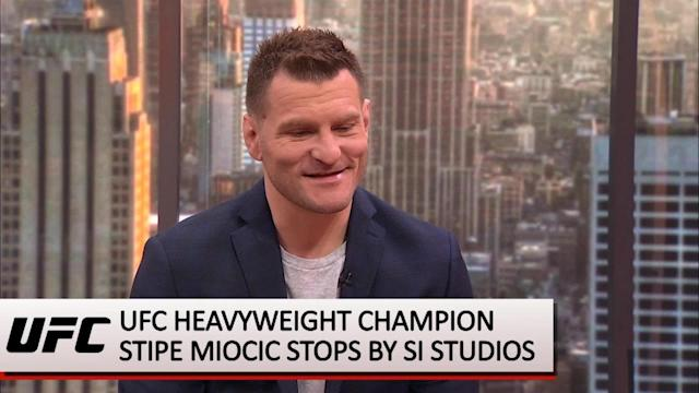 As UFC 226 approaches, UFC heavyweight champion Stipe Miocic shares his thoughts on Daniel Cormier, a possible future in the WWE, and predicts how well Floyd Mayweather would perform in the Octagon