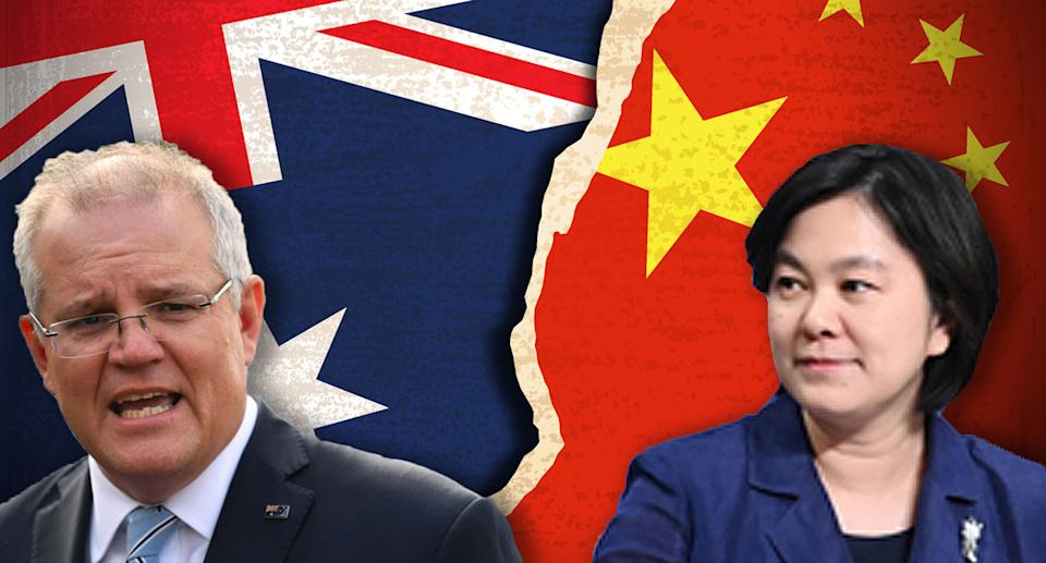 Prime Minister Scott Morrison's remarks have been countered by Foreign Ministry spokesperson Hua Chunying. Source: Getty/ FMPRC