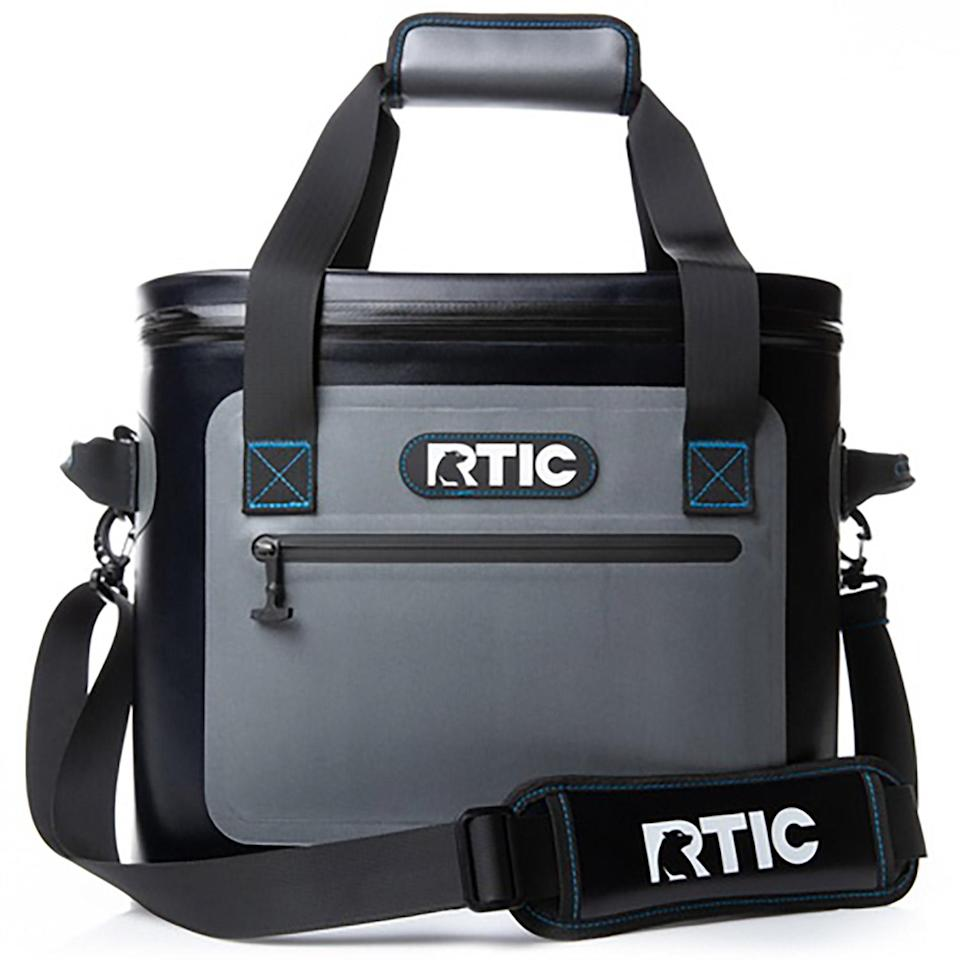 """<p>He's been waiting 365 days to get back on a boat. Make his return memorable with this leakproof, super-insulated, virtually indestructible soft-sided vinyl cooler that holds 30 cans of his favorite beverage.</p> <p><strong>Buy It! </strong>RITC soft pack cooler, $99.99; <a href=""""https://www.avantlink.com/click.php?tt=cl&merchant_id=30095111-084d-44b7-8bc7-9c46e3548ac2&website_id&url=https%3A%2F%2Frticoutdoors.com%2FSoft-Pack-Coolers%3Fname%3DSoft-Pack%26amp%3Bsize%3D30%26amp%3Bcolor%3DTan&ctc=PEOFathersDayGiftGuide2021EditorsPicksaapatoff1271LifGal12743659202106I"""" rel=""""sponsored noopener"""" target=""""_blank"""" data-ylk=""""slk:ritcoutdoors.com"""" class=""""link rapid-noclick-resp"""">ritcoutdoors.com</a></p>"""