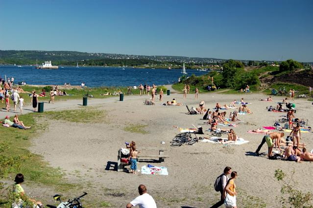 <p>No. 1 Least Affordable Beaches: Norway<br> Sunscreen: $21.52<br> Water: $2.68<br> Beer: $8.17<br> Ice Cream: $4.58<br> Lunch: $23.44<br><b>Total: $60.39</b><br> (Photo: Huk Beach in Oslo, Norway/bjaglin/<span>Flickr</span>) </p>
