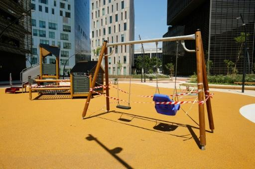 Virus restrictions reduced access to areas for play and exercise in many places