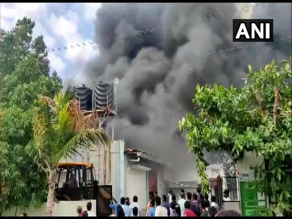 Fire at a company in Ghotawade Phata (Photo/ANI)