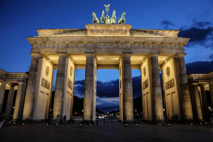 The <strong>Brandenburg Gate</strong> in Berlin is one of the German city's most famous landmarks and was transformed from a symbol of division to one of unity.