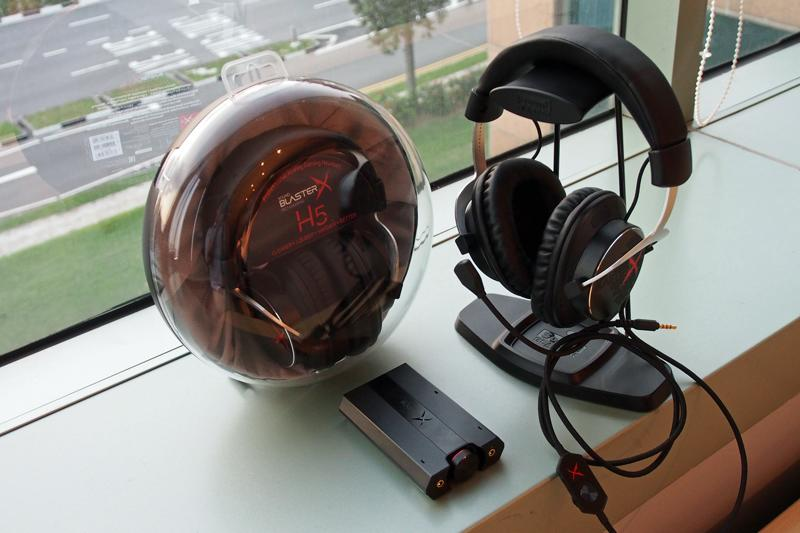 Creative Sound BlasterX H5 and the G5 external sound card (front).