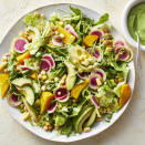 <p>This gorgeous and healthy summer vegetable salad is loaded with pretty produce, including golden beets, avocado, corn, microgreens and radishes. Chickpeas and edamame add substance, and an herb-filled buttermilk-avocado dressing makes this salad really special. Serve it on its own for a light vegetarian meal or add grilled chicken for an easy weeknight dinner.</p>