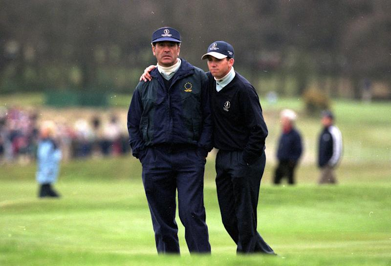 Garcia never played with Balleteros in the Ryder Cup, but played for him at the 2000 Seve Trophy.