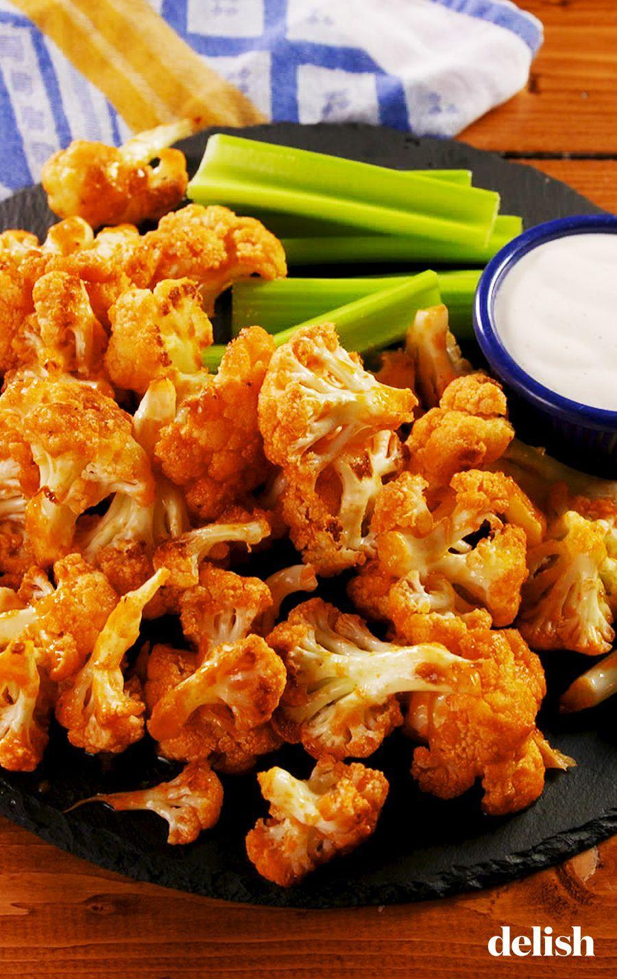 """<p>This cauliflower is totally buff.</p><p>Get the recipe from <a href=""""https://www.delish.com/cooking/recipe-ideas/a25847433/buffalo-cauliflower-bites-recipe/"""" rel=""""nofollow noopener"""" target=""""_blank"""" data-ylk=""""slk:Delish"""" class=""""link rapid-noclick-resp"""">Delish</a>.</p>"""