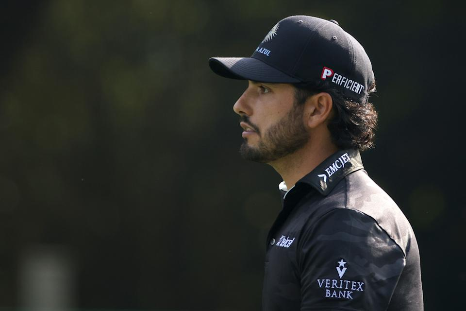 Abraham Ancer of Mexico walks up the first fairway during the first round of the Masters at Augusta National Golf Club on April 08, 2021 in Augusta, Georgia. (Photo by Kevin C. Cox/Getty Images)
