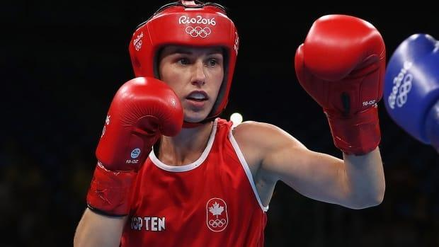 Canadian boxer Mandy Bujold was denied a spot in Tokyo by the International Olympic Committee on Tuesday. (Christian Petersen/Getty Images/File - image credit)