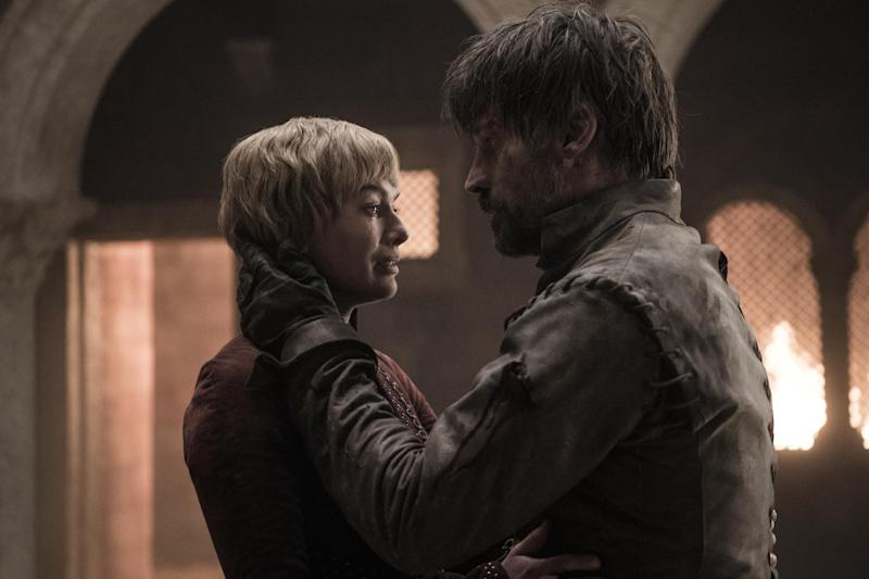 Cersei Lannister and her brother-lover Jamie died when they were crushed by falling masonry. (HBO / Helen Sloan)