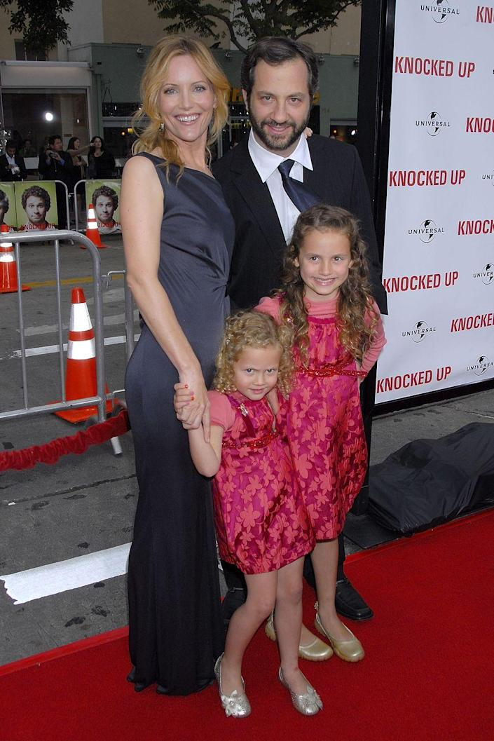 <p>The daughters of director Judd Apatow and actress Leslie Mann were born on October 12, 2002 and December 15, 1997, respectively.</p>