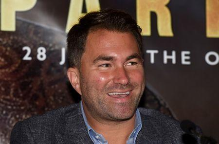 FILE PHOTO - Boxing - Dillian Whyte Press Conference - Dorchester Hotel, London, Britain - June 7, 2018 Promoter Eddie Hearn during the press conference Action Images via Reuters/Alan Walter