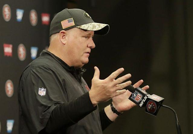 Chip Kelly is 28-35 as a head coach in the league over four seasons. (AP)