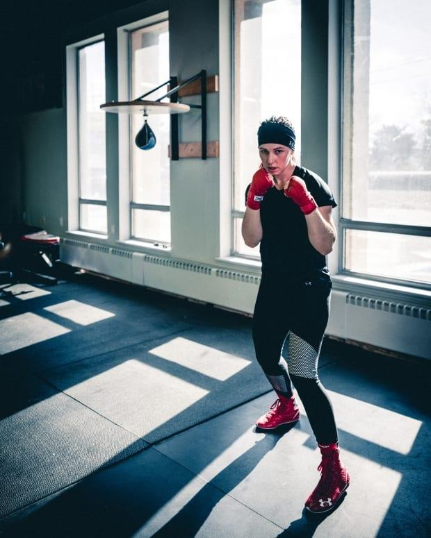 Kitchener, Ont.'s Mandy Bujold is asking the International Olympic Committee to amend its qualifying rules to allow for time off for pregnancy to be taken into consideration. (Courtesy Mandy Bujold - image credit)
