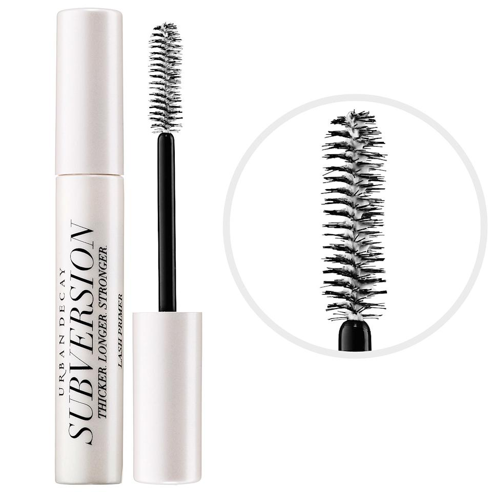 "<p>""To get the most out of your lashes, curl them first. <a rel=""nofollow"" href=""http://www.sephora.com/sephora-collection-x-utowa-pro-universal-curler-P414218?_requestid=1409970&keyword=utowa&mbid=synd_yahoobeauty&skuId=1881440"">Sephora Collection x Utowa Pro Universal Curler</a> ($19) gets right up close to the root and works for any eye shape. Apply two coats of [this primer] before mascara application, as this lash primer conditions and brings added volume to your end result. When you take a moment to curl and prime the lashes, your mascara will give the best result possible. When you pair all three together, you get eye-opening lashes that last!"" —Eliza Davila, Philadelphia</p>"