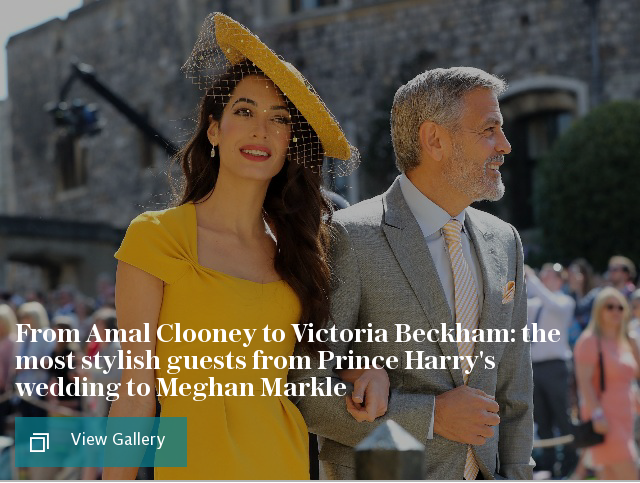 The most stylish guests from Prince Harry's wedding to Meghan Markle
