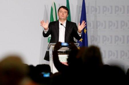 FILE PHOTO: Former Italian Prime Minister Matteo Renzi gestures as he talks during a meeting of Democratic Party (PD) in Rome, Italy February 19, 2017. REUTERS/Remo Casilli/File Photo