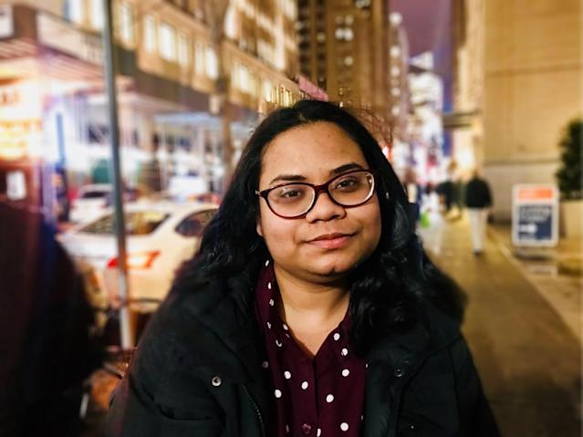 Thanks to a recent federal court ruling, NYC college student Fairooz Haider is eligible to apply for a two-year renewal of the protections covered under DACA. (Photo: Caitlin Dickson/Yahoo News)