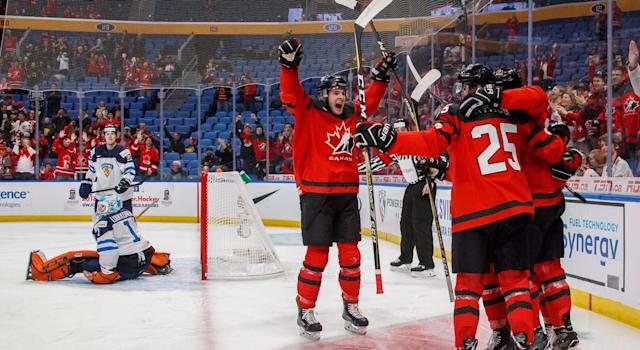 It was crickets at KeyBank Arena in Buffalo as Canada opened against Finland at the world juniors. (Canadian Press)