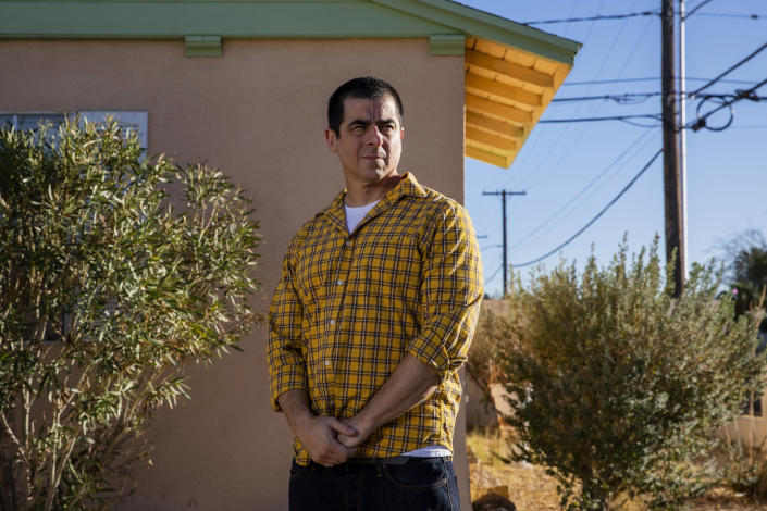 Rodolfo Leon outside of his Las Vegas home. (Joe Buglewicz / for NBC News)