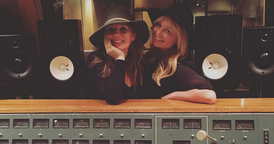 Geri Halliwell and Emma Bunton in the recording studio working on new material (Copyright: Instagram/TheRealGeriHalliwell)