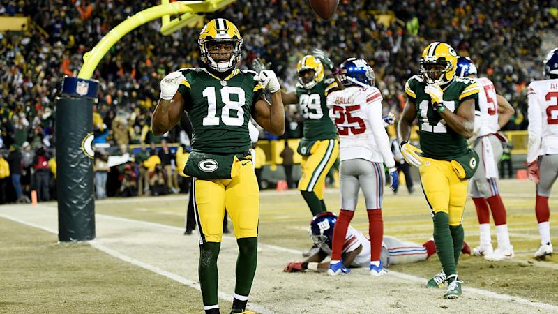 The Green Bay Packers, pictured here trouncing the New York Giants in the 2017 Wild Card game.