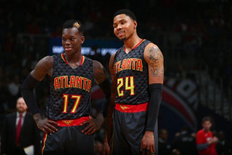 Dennis Schroder and Kent Bazemore are now the core of the Atlanta Hawks.(Getty)