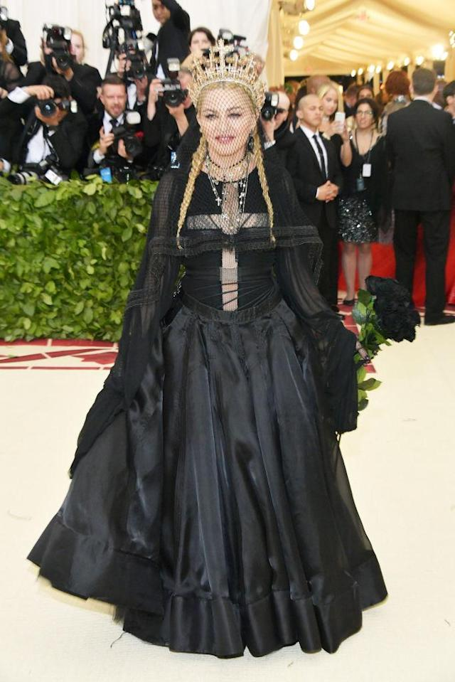 <p>This gothic Jean Paul Gaultier looked extraordinary on the gala's chosen performer. (Photo: Getty Images) </p>