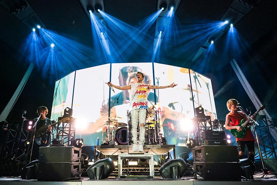 One OK Rock opening for Ed Sheeran at his Divide World Tour concert in Singapore at the National Stadium on 26 April 2019. (Photo: Aloysius Lim/Lushington Entertainment)