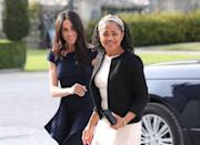 "<p>Meghan and her mum, Doria Ragland, have an incredible bond. According to <a href=""https://www.oprahmag.com/entertainment/a27408347/meghan-markle-mother-doria-ragland/"" rel=""nofollow noopener"" target=""_blank"" data-ylk=""slk:Oprah"" class=""link rapid-noclick-resp"">Oprah</a>, Doria also loves <a href=""https://www.womenshealthmag.com/uk/fitness/yoga/"" rel=""nofollow noopener"" target=""_blank"" data-ylk=""slk:yoga"" class=""link rapid-noclick-resp"">yoga</a> (and is currently a yoga teacher).</p>"