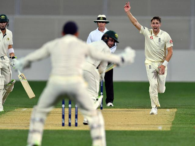 Chris Woakes' four late wickets put England on the verge of victory in Adelaide: AFP