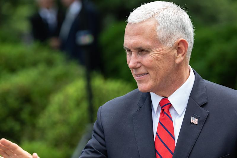 Vice President Mike Pence spoke Wednesday at the Southern Baptist Convention's annual meeting. (NurPhoto via Getty Images)
