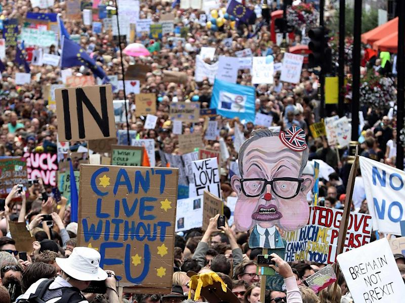 The March for Europe last summer: Getty Images