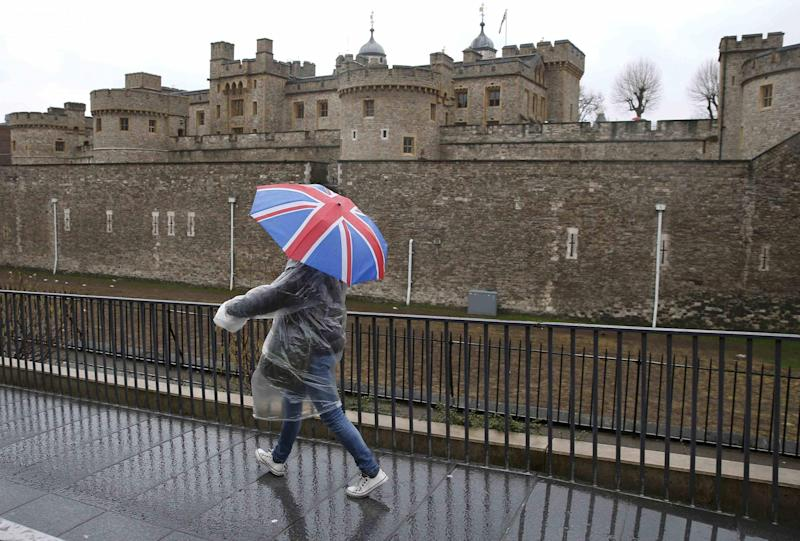 Wet: Forecasters predicted rain for most of the week: REUTERS