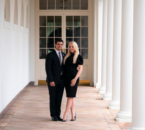 The newly engaged pair posed in a snap at the White House. Photo: Instagram/tiffanytrump