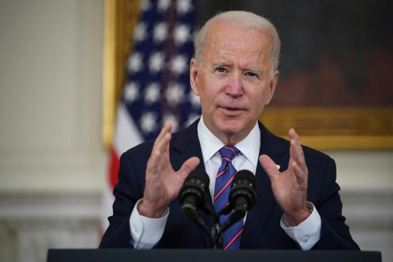 US President Joe Biden, speaking at the White House on April 2, 2021, is hoping to ramp up global action on climate through a virtual summit