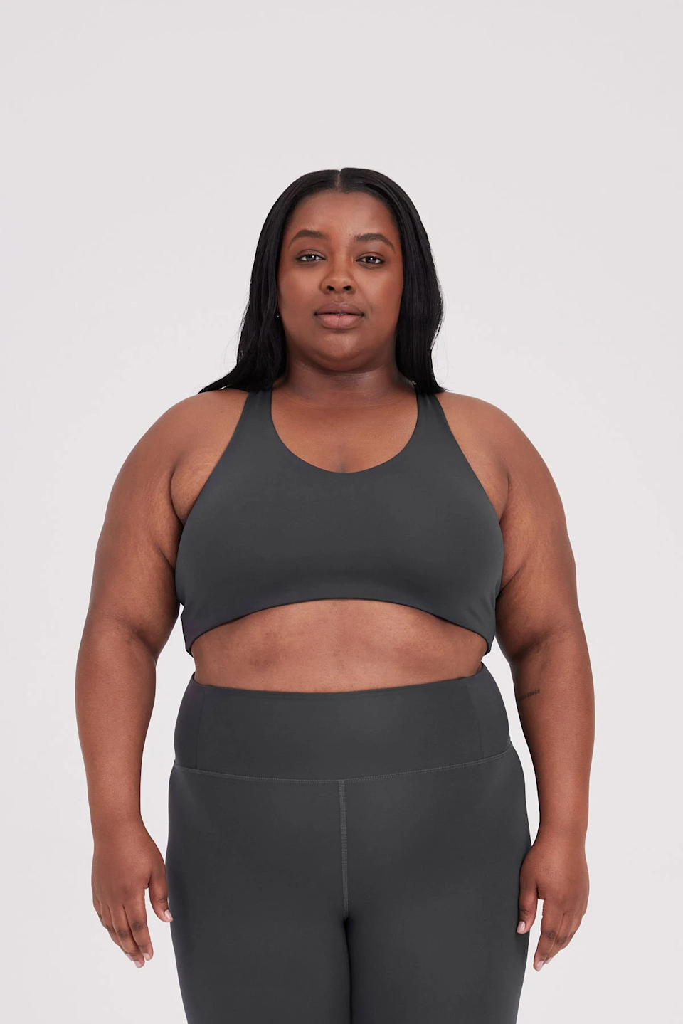 """<h3>Girlfriend Collective</h3><br>Under $40? Check. Sustainably-made? Check. Cute? Check, check, and check. Larger-chested folks may have avoided the V-neck silhouette, but no longer is that the case. Girlfriend Collective's bras give you necessary support and are available in sizes XXS to 6XL.<br><br><strong>Girlfriend Collective</strong> FLOAT Lola Bra, $, available at <a href=""""https://go.skimresources.com/?id=30283X879131&url=https%3A%2F%2Fwww.girlfriend.com%2Fproducts%2Fshadow-float-lola-bra"""" rel=""""nofollow noopener"""" target=""""_blank"""" data-ylk=""""slk:Girlfriend Collective"""" class=""""link rapid-noclick-resp"""">Girlfriend Collective</a>"""