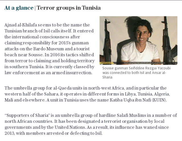 At a glance | Terror groups in Tunisia